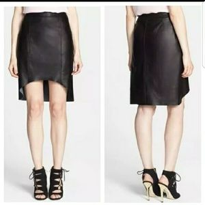 Trouve size 10 nordstrom 100% leather skirt $250